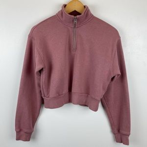 Aritzia TNA Perfect 1/4 Zip Sweatshirt Size S